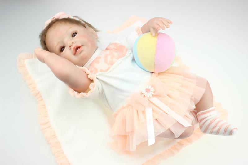 55cm New Silicone Reborn Child Doll Toys Lifelike Handmade Simulation Toddler Child Dolls Child Baby Christmas Birthday Items