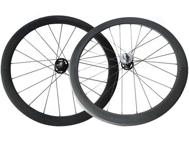 UCI test/EN standard manufacturer sale 88mm carbon fixed gear clincher Wheels U shape tubular rim track bike wheelset 25mm wide(China (Mainland))