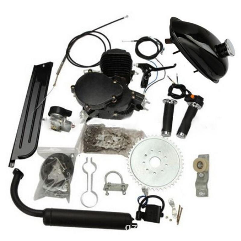 80cc 2-Stroke Motor Engine Kit for Motorized Bicycle Assembly Set Bike Gas Powered Silver/Black(China (Mainland))