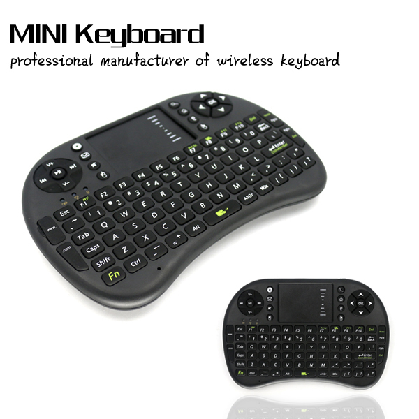 Black 2.4GHz Rii Mini i8 2.4G Rii Mini i8 Air Mouse Wireless Keyboard with Touchpad for PC Google Andriod TV Box Media Control(China (Mainland))
