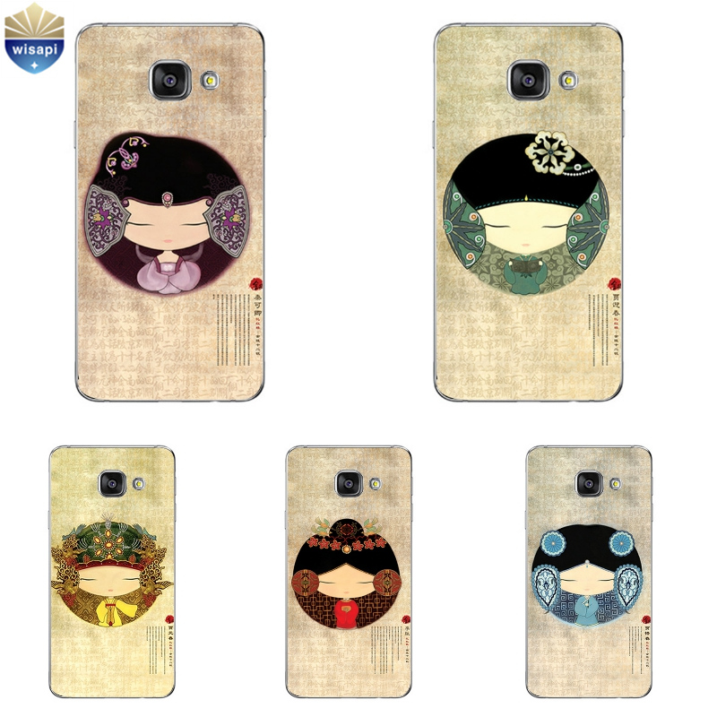 Phone Case For Samsung Galaxy A3 A5 A7 (2016) A8 A9 Note 2 3 3Lite 4 5 China Classic Cartoon Painted Soft TPU Back Cover Shell(China (Mainland))