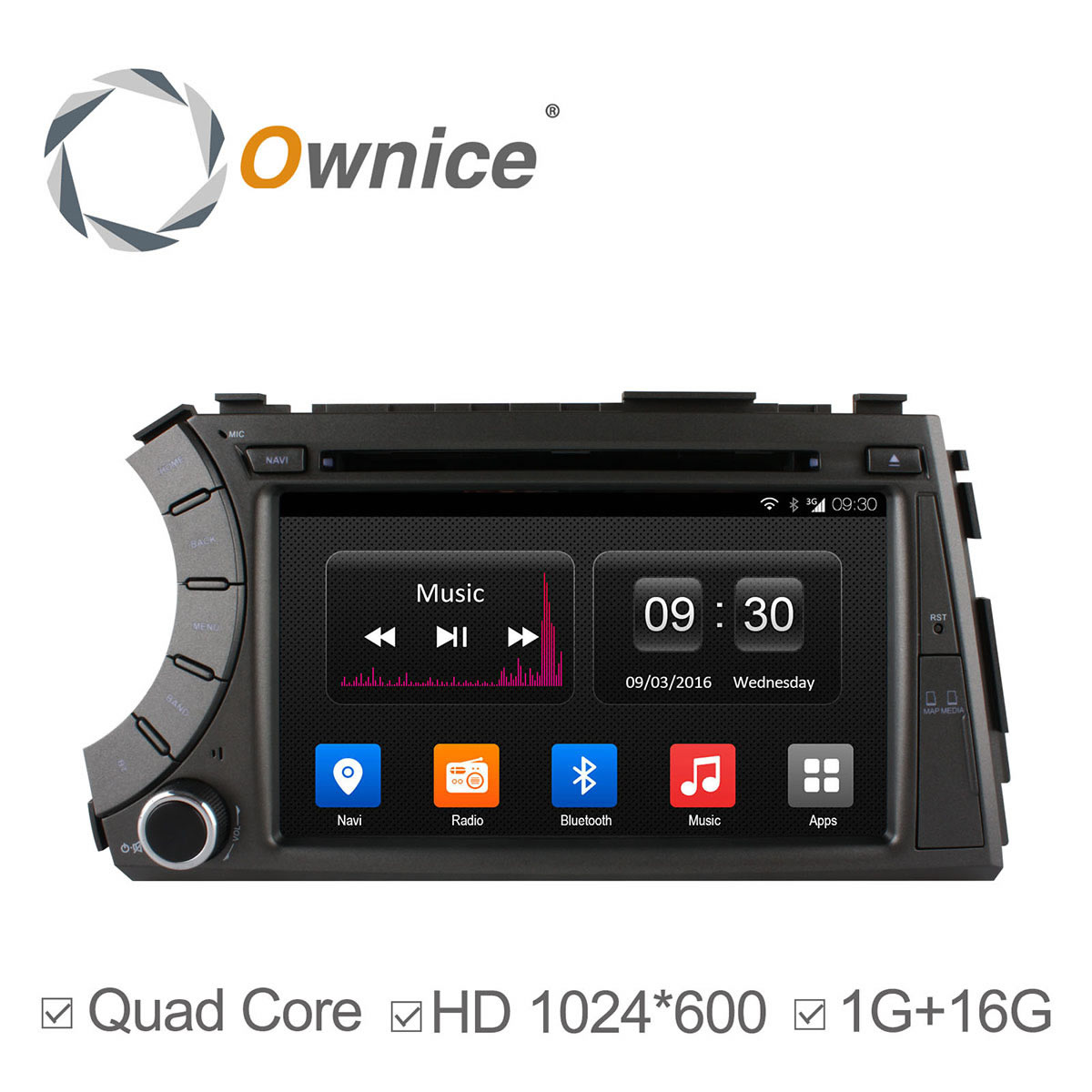 1024*600 Android 4.4 Two Din Car DVD Player For SSANGYONG Kyron Korando Actyon With 3G wifi Radio GPS RDS BT Support Ipod DAB+(China (Mainland))