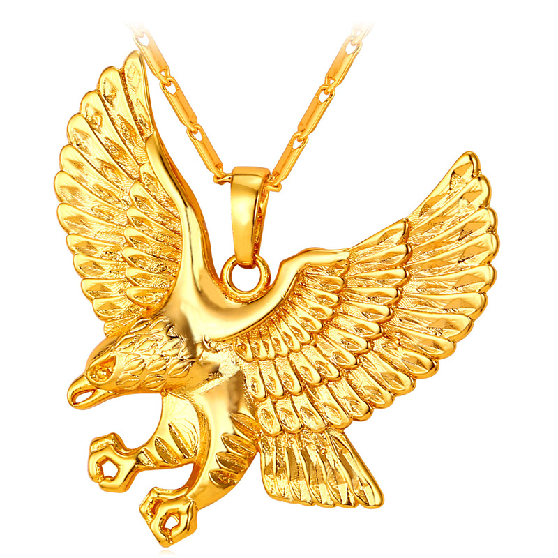 Owl Pendent & Necklace Women Men Jewelry Stainless Steel 18k Stamp Gold Plated Necklaces Pendants Wholesale Punk Jewelry P335(China (Mainland))