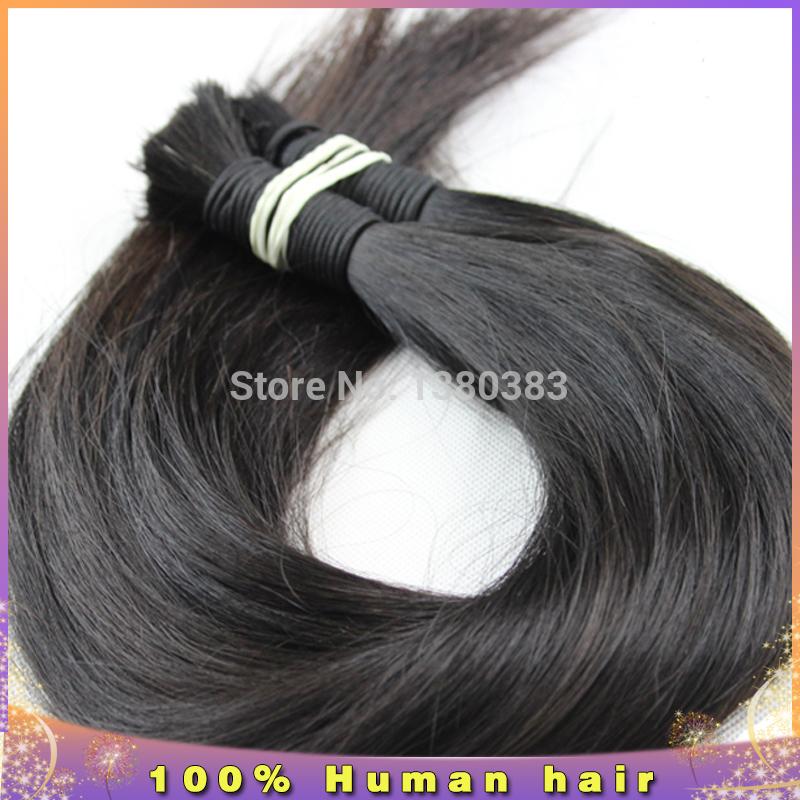 Здесь можно купить  Bulk hair for braiding 100g brazilian human virgin bulk hair 1pcs lot brazilian virgin hair straight braiding hair cheap  Волосы и аксессуары