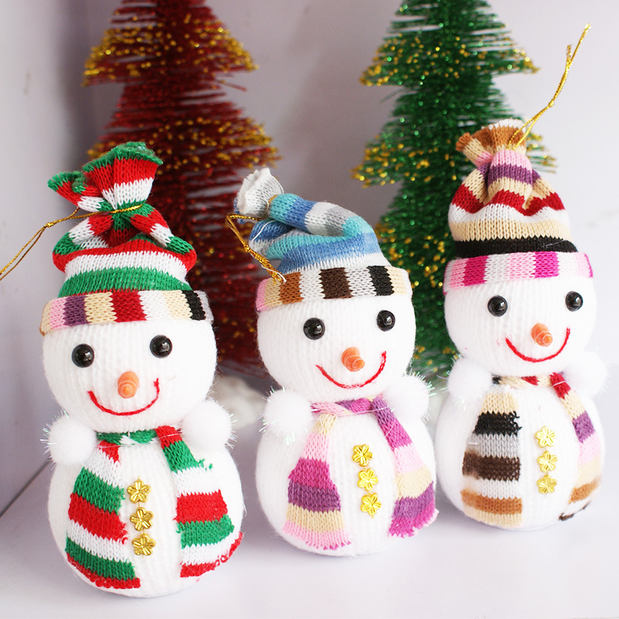 1Pc Christmas Snowman Doll Christmas tree Christmas Ornaments Accessories Decorative Snowman Gift Children Toy(China (Mainland))
