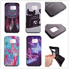 10 Pattern, Smile Angry pattern TPU 3D print Painted Soft silicone black Case for Samsung Galaxy S6 Edge Plus Mobile Phone Bag