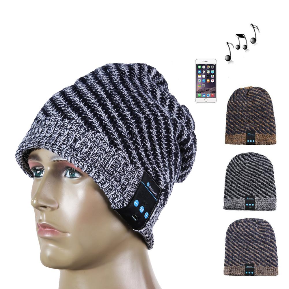 Cheap Fashion Noise Callelling Soft Warm Wool Hat Wireless Bluetooth Smart Hat Cap Headset Headphone Earphone Speaker(China (Mainland))