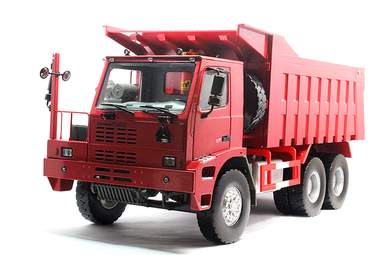 Made in China 1:24 Chongqing Automobile HOWO Mine dump truck model Alloy dumpers model Favorites Engineering equipment model(China (Mainland))
