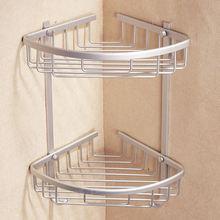 1/2/3 Tier Space Aluminum Bathroom Corner Shelf Triangular Shower Shampoo  Soap Cosmetic