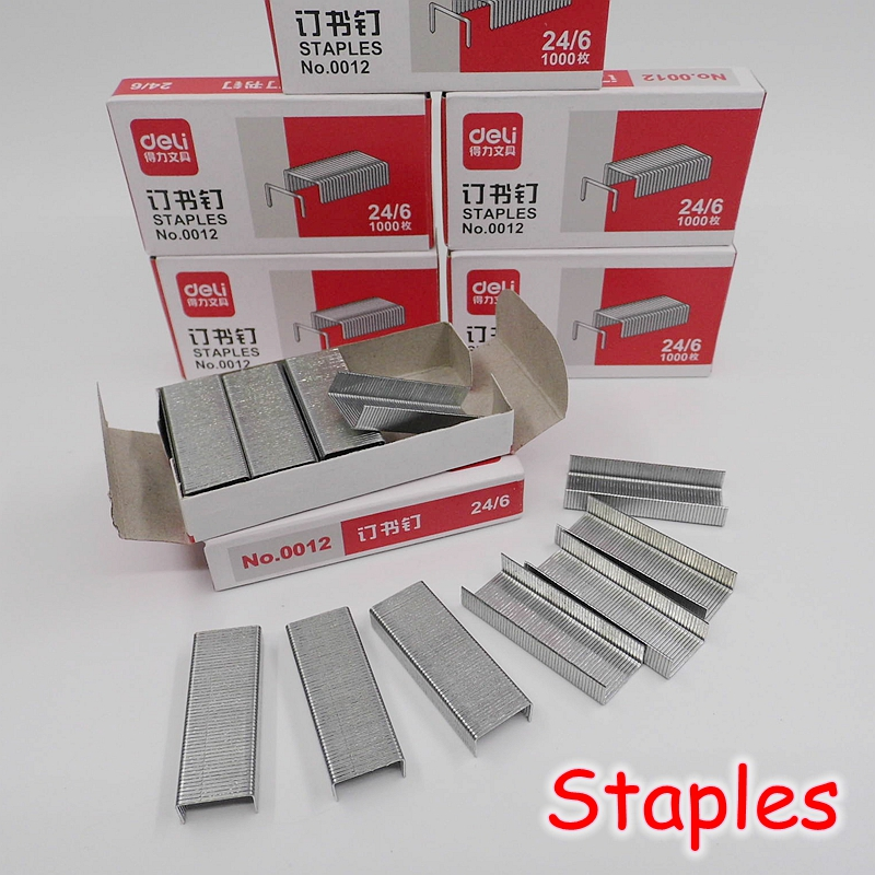 [FORREST SHOP] High Quality 24/6 12mm Metal Standard Staples School Stationery Office Supplies 1000 / Box No.0012(China (Mainland))