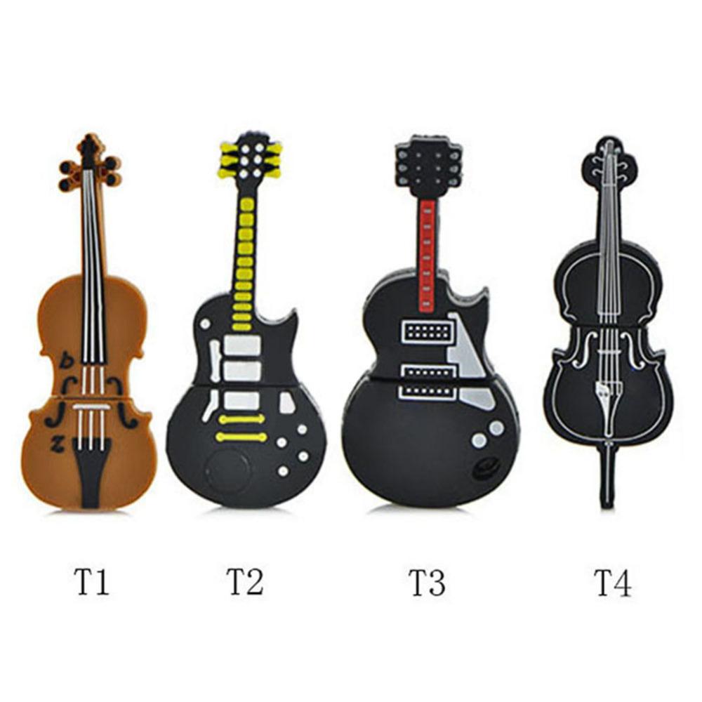 Fashion U disk pendrive cartoon musical guitar/violin/piano/harmonica Musicial note pendriver pen drive 8GB 32GB usb flash drive(China (Mainland))