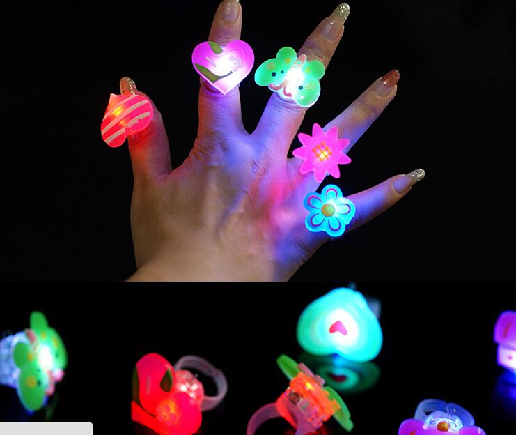 LED Cartoon soft finger ring led flash luminous party props light up toys kids cartoon colorful gift 1000pcs/lot(China (Mainland))