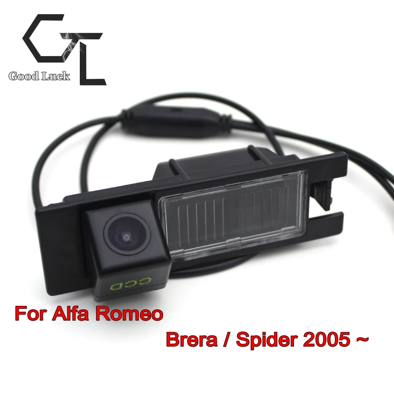 For Alfa Romeo Brera / Spider 2005 ~ 2015 wireless Backup Rear View Reversing Car Reverse Camera HD CCD Night Vision Car Camera(China (Mainland))
