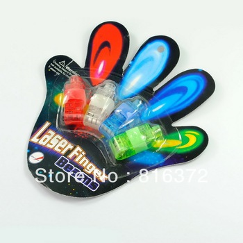 Multi-Color LED Party Light Finger Laser Beam Torch Ring-Freeshipping
