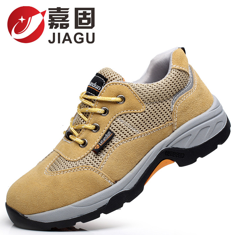 new comfortable puncture proof steel toe cap work summer safety shoes men big size ankle leather boots women