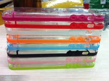 free shipping 10pcs/1lot  newest style  Typical solid color cell phone protection frame for iphone 5 case phone shell
