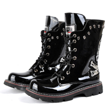 2015 Winter and autumn Men's shoes Punk stage performance Mid-Calf boots Rock personality Motorcycle boots for men