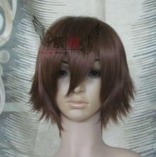 Vogue short brown straight cosplay men's hair full wig/wigs festival gift
