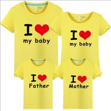 Family Matching Outfits T-shirt Clothes For Dad Mon Daughter and Son 2018 Summer Father and Son Suits Top Clothing Family Look(China)