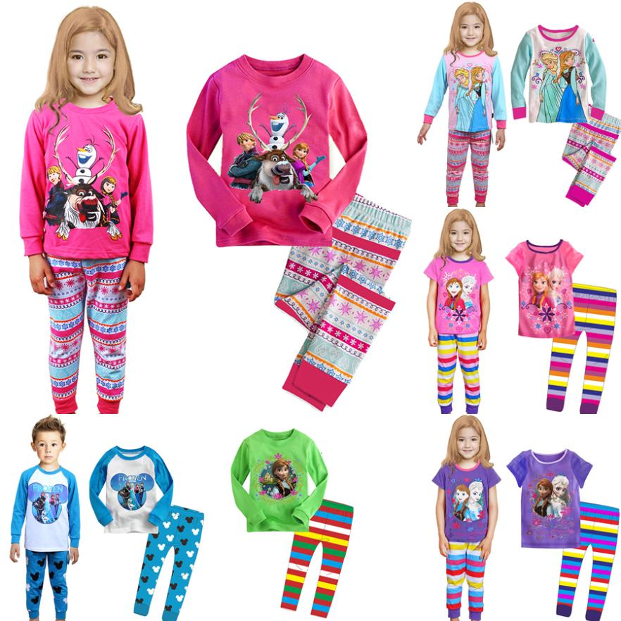 hot sale 2014 cartoon clothes princess children pajama sets,unisex boys girls pijamas,baby kids pyjamas sleepwear(China (Mainland))