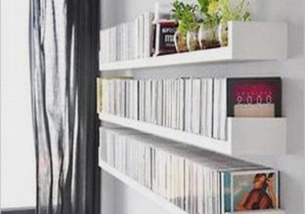 Фотография Cheap thickened U- top box clapboard shelf bookcase wall bracket Wall