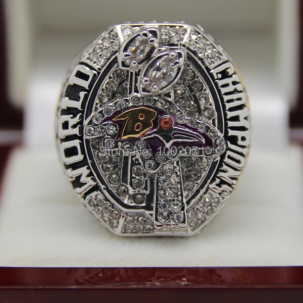 (3 pieces/lot) HOT new 2012  Super Bowl Baltimore Ravens Football Championship Rings Best Fan Gift for Men Jewelry 18k Plated<br><br>Aliexpress