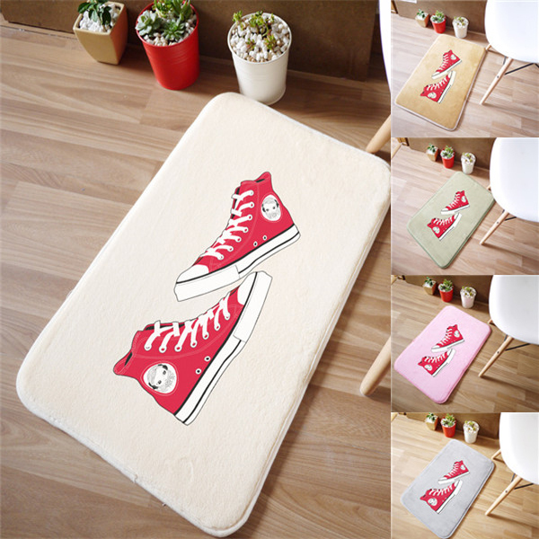 !Home textile products Red Plimsolls design style household accessories coral velvet mat carpet tapetes - Huarlily Import & Export Co., Ltd. store