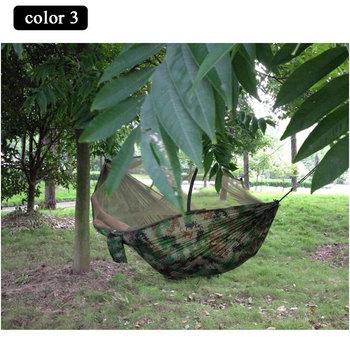 Горячая распродажа портативный высокая прочность парашютной ткани кемпинг гамак висячие кровати с противомоскитной сеткой спящая гамак