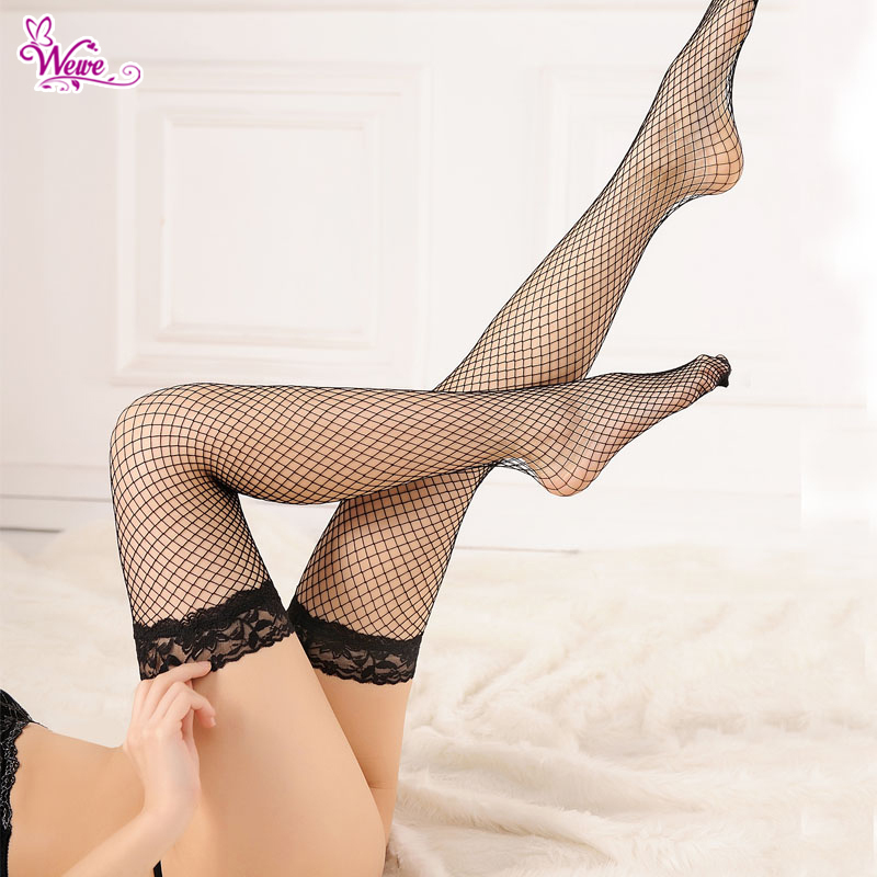 Sexy Stockings Fashion Fishnet Stockings Summer Style Women Thigh High Stockings Black White Pink Red Over The Knee Stocking(China (Mainland))