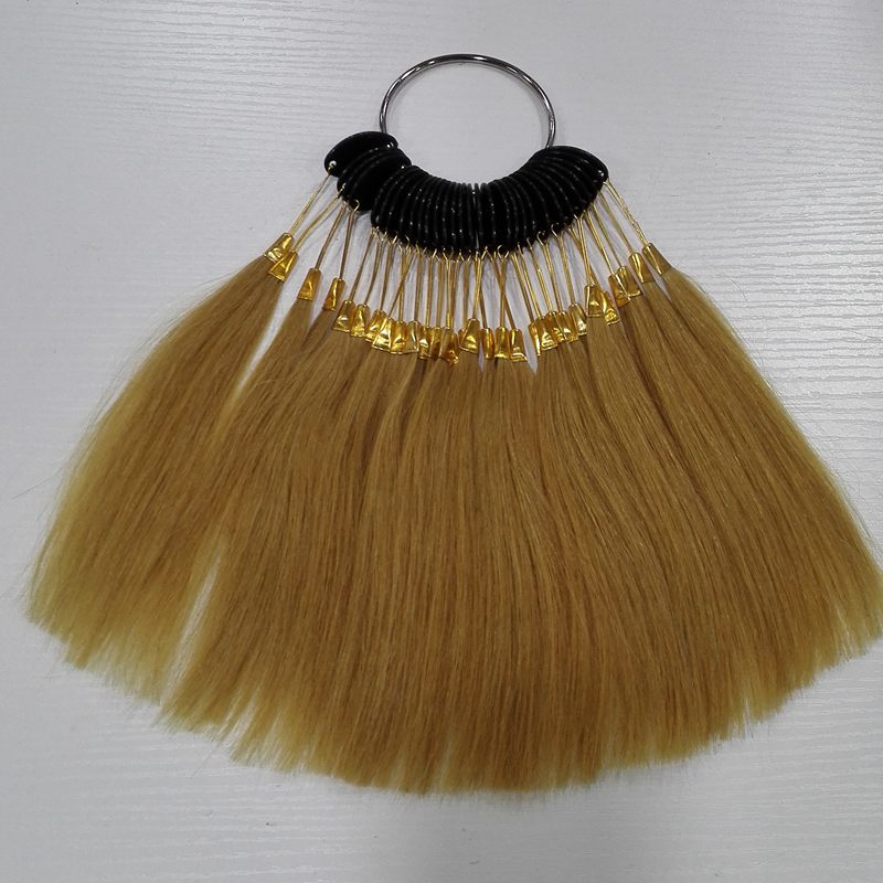 6inch human hair color ring for salon hair color chart light brown color can change any color(China (Mainland))