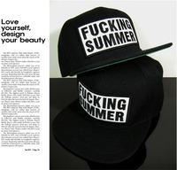 Free shipping! 2014 Fashion hot sale fucking summer cap bigbang gd hat hip-hop flat snapbacks cap baseball cap