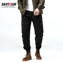 Jantour Cargo Pants Men 2019 Mens Streetwear Joogers Pants Black Sweatpant Male Hip hop Autumn Pockets Trousers Overalls homme(China)