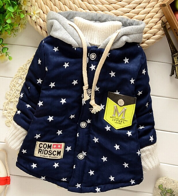 free shipping Unisex Thick clothes kids jackets child warm clothing new 2014 autumn children winter outwear girls boys coat 7341(China (Mainland))