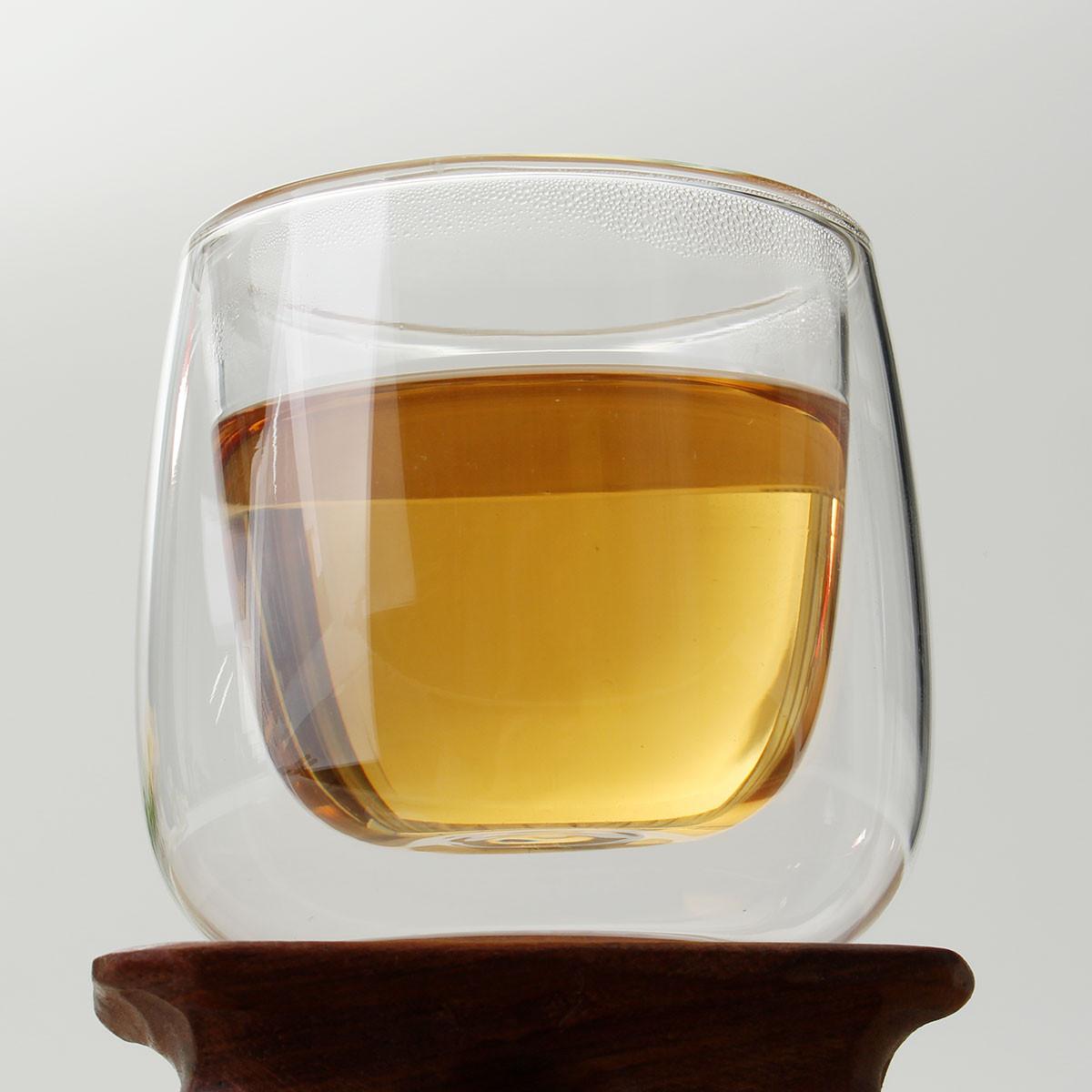100ml Heat Resistance Double Wall Glass Cup Double Layer Glass Kungfu Tea Cup Coffee Milk Juice Healthy Drink Mug Mini Teapot(China (Mainland))