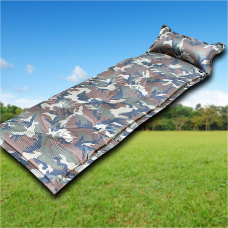 Camouflage automatic inflatable cushion patchwork mat moisture-proof pad sleeping pad self inflating air mat free shipping(China (Mainland))