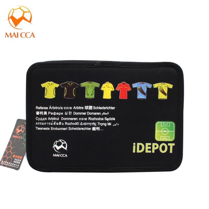MAICCA Professional Soccer referee bag Black Football referee toolkit Sports wallet equipment Customer Make(China (Mainland))