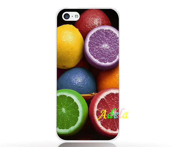wholesale 100pcs Popular Color lemon UV print embossed hard soft cover for apple iphone 5 5s 4 4s 6 6p plus 4.7 5.5 inch 5C case(China (Mainland))