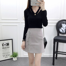 Buy Vintage Lace Suede Skirt Jupe Femme 2016 Autumn Winter Casual Preppy Short Skirt Sexy High Waist Bodycon Mini Skirt Saia for $11.31 in AliExpress store