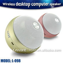L-098 9W rechargeable mini portable wireless desktop computer speaker for PC, laptop, Bluetooth speaker for mobile phone(China (Mainland))