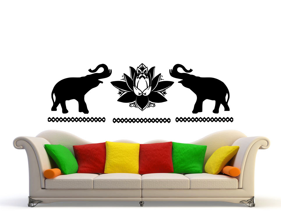 Online buy wholesale elephant wall murals from china for Elephant wall mural