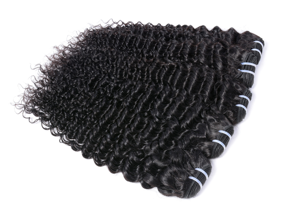 Iwish 1 piece Brazilian Curly Hair Weave Bundles 100% Human Hair Extensions Natural Black Color Non-Remy Hair Free Shipping