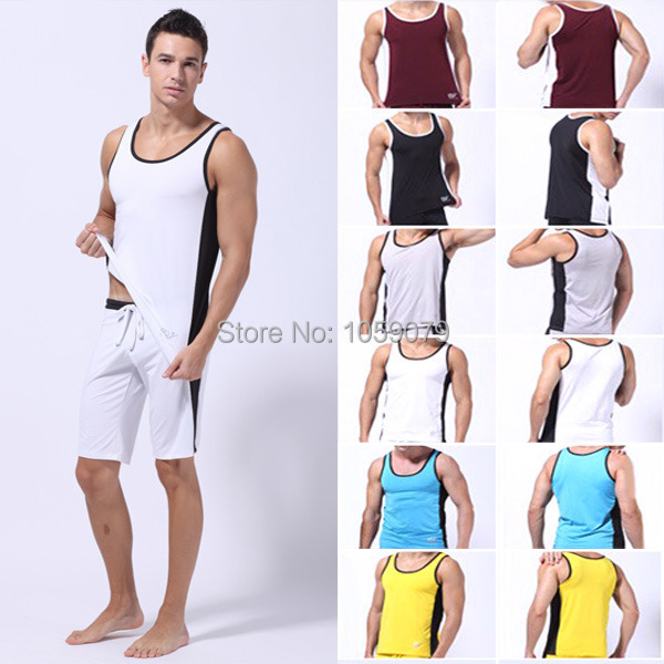 2015 gift muscle tee gym vest sport athletic apparel for Dress shirts for athletic guys