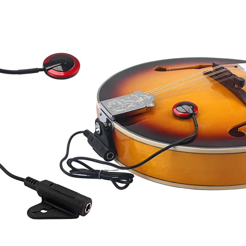 Professional 6.35mm Piezo Transducer Contact Mic Pickup Copper Pickup For Acoustic Guitar Violin Ukulele Banjo String Instrument
