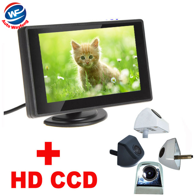 """2 in 1 Auto Parking Assistance System 4 color General Car Rearview Camera+4.3""""TFT LCD car Monitor HD 170 Angle car backup camera(China (Mainland))"""