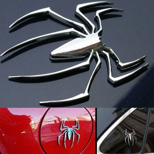 Spider 3D Metal funny car stickers cars vw polo golf 5 6 kia ria k2 mazda 3 ford focus 2 fiesta audi a4 - zing 1 store