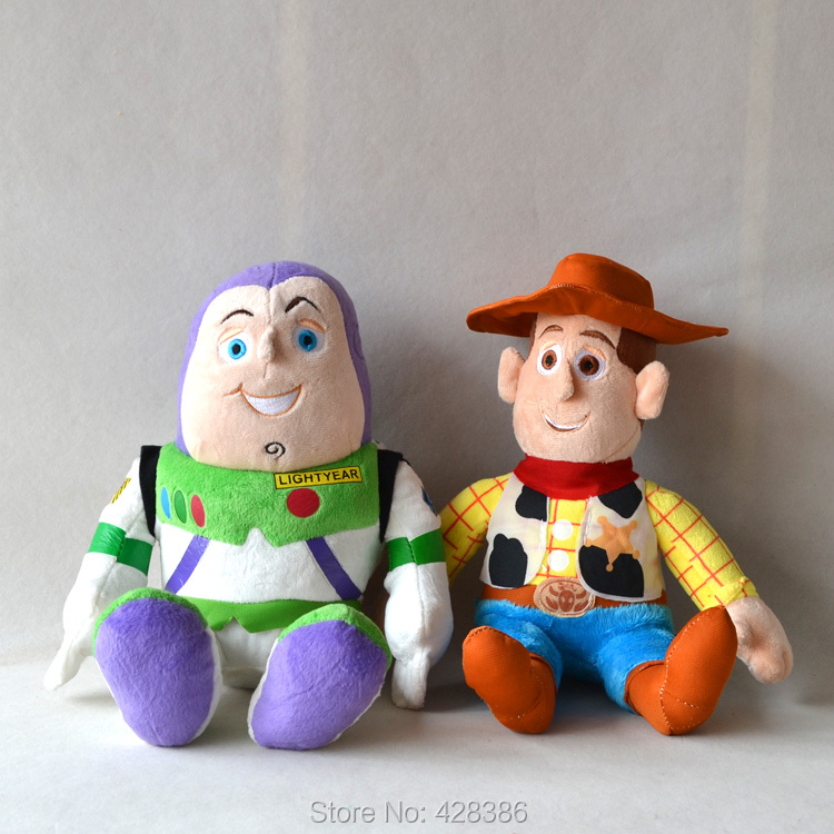 13.7 Inches Woody Buzz Lightyear Soft Stuffed Plush Doll New Toy Story Classic Baby Toys Children Kids 1 pair - Truman Hua's store