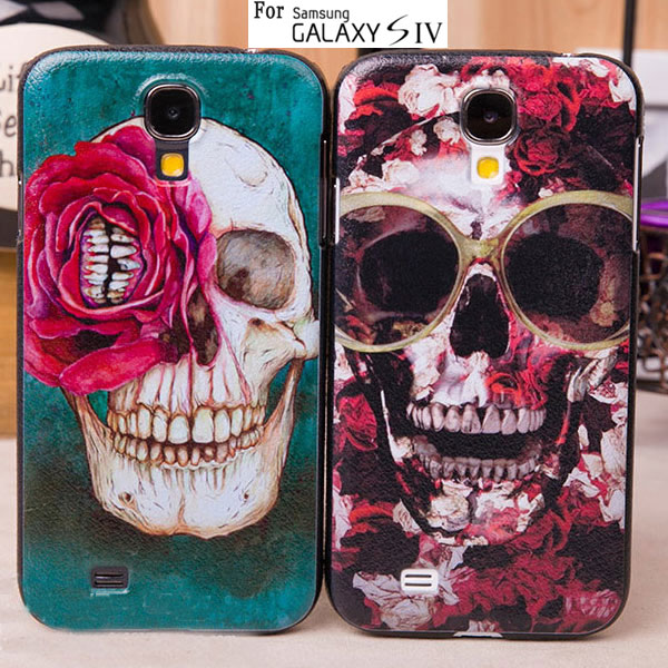 Fashion Lovely Gift unique New Skull Head design Hard Plastic Case For Samsung Galaxy S4 i9500 S IV Hard Case Back Cover(China (Mainland))