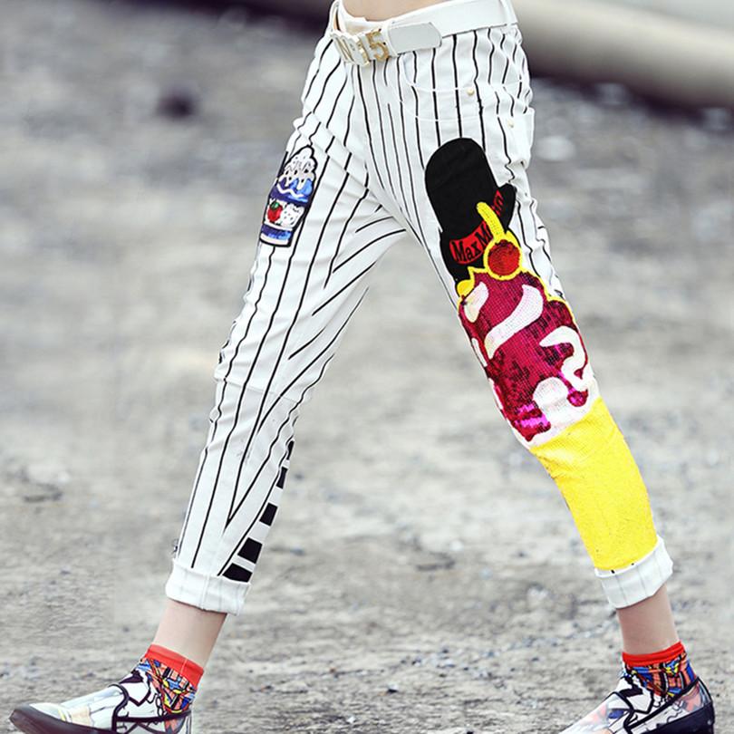 New 2015 spring fashion womens jeans handmade beading european type denim pencil pants high street slim jeans trousers D5352Одежда и ак�е��уары<br><br><br>Aliexpress