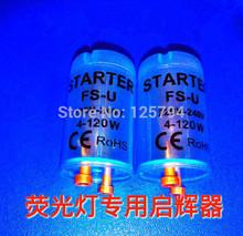 20 unids/lote fluorescente fusible del tubo de arranque con el azul vivienda clara AC220V-240V 4 - 120 W luz fluorescente arranque lastre CE ROHS(China (Mainland))