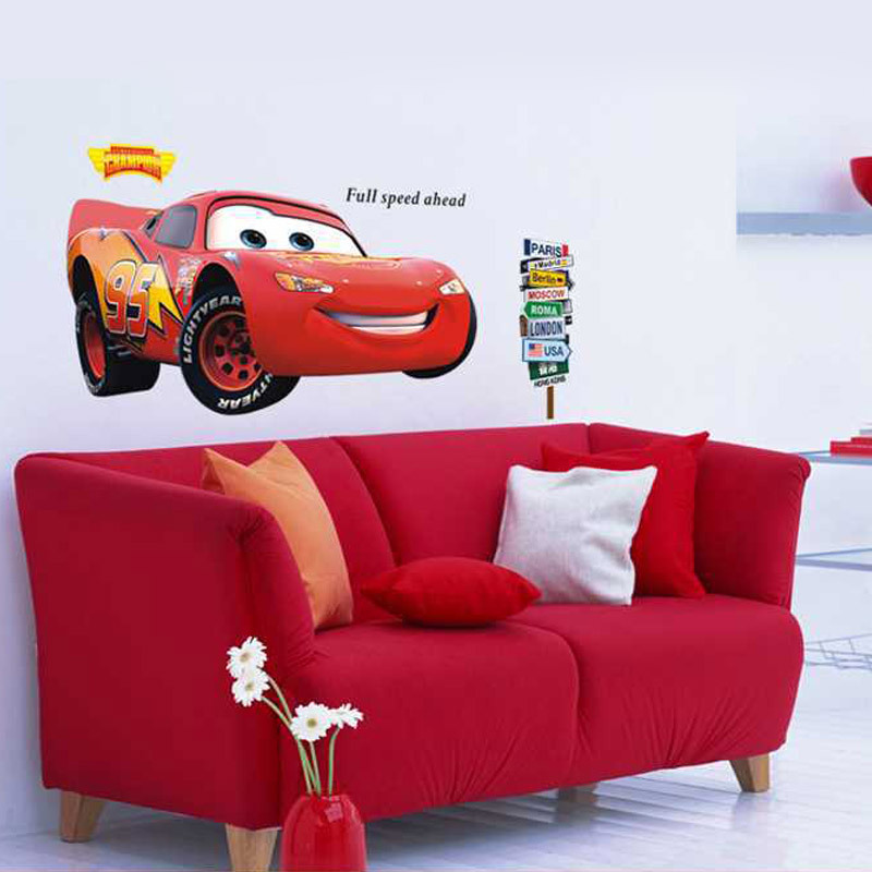 Buy free shipping fashion 60 90cm large for Disney cars large wall mural